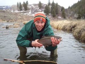 Charlie Dresen with a Yampa River Trout